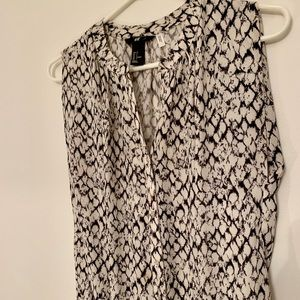 H&M animal print tunic
